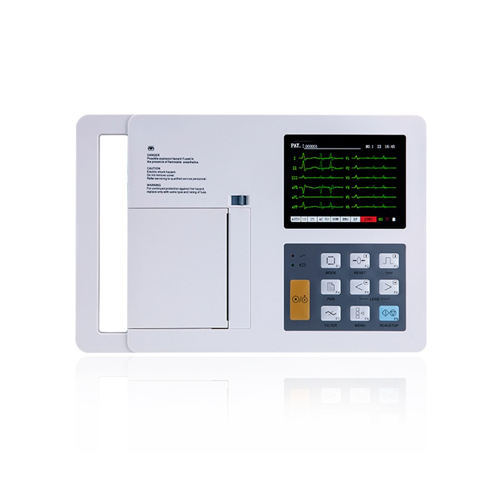 12-Channel Color ECG Machine